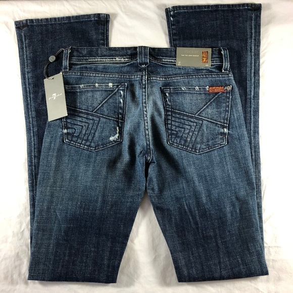 7 For All Mankind Denim - 7 for all Mankind RARE Quilt Pocket Rocker SCL 27